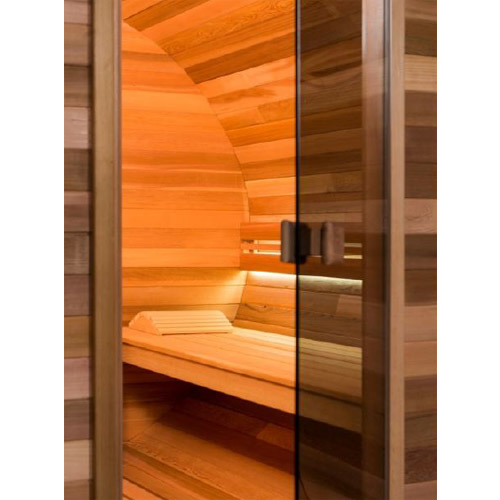 sauna cabine buitensauna barrel 300 cm lang diam 215 cm. Black Bedroom Furniture Sets. Home Design Ideas