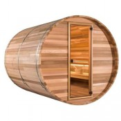Barrel outside sauna